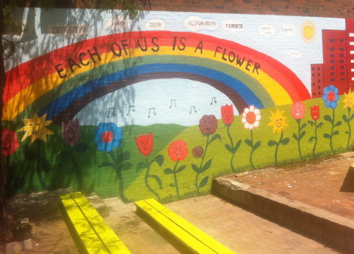Mural Each of us is a flower 2011