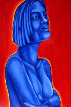 Painting Blue Girl